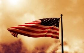 Обои флагшток, штаты, Флаг, usa, веревка, сша, дым
