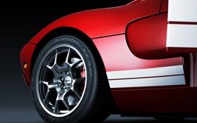 Обои красный, Ford, red, диск, форд, rear