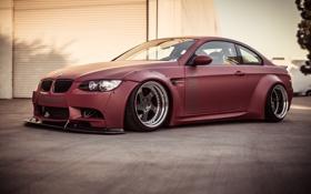 Картинка Красная, BMW, Тюнинг, БМВ, Диски, E92, Tuning
