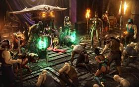 Картинка Mortal Kombat, kitana, sindel, Mileena, Jade, reptile, baraka