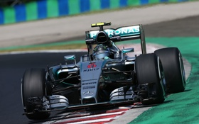Обои Mercedes, Formula 1, Передок, Nico Rosberg, W06