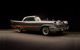 Обои полумрак, классика, передок, 1957, hardtop, красивая машина, 2-door