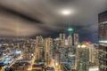 Картинка ночной город, небоскрёбы, здания, Chicago, Чикаго, огни