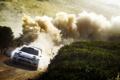 Картинка Polo, Rally, Белый, WRC, Занос, Скорость, Sebastien Ogier
