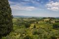 Картинка пейзаж, Italy, Tuscany, Тоскана, Сан-Джиминьяно, панорама, деревья