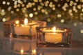 Картинка огонь, свечи, Christmas, блик, New, decoration, Holidays