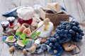 Картинка сыр, виноград, натюрморт, джем, инжир