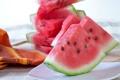 Картинка еда, арбуз, фрукты, ломтики