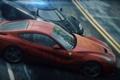 Картинка погоня, занос, Koenigsegg, Ferrari, ракурс, спорткары, Need for Speed Rivals