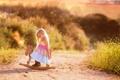 Картинка дорога, лето, девочка