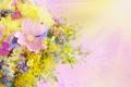 Картинка букет, цветы, drops, daisies, лето