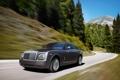 Картинка дорога, машина, лес, горы, обои, rolls-royce, phantom