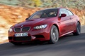 Картинка дорога, авто, красный, скорость, BMW M3