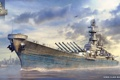 Картинка оружие, игра, корабль, арт, США, вооружение, линкор