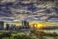 Картинка дорога, рассвет, небоскребы, Австралия, hdr, Сидней