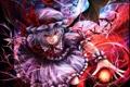 Картинка девушка, магия, крылья, арт, touhou, remilia scarlet, kazabana kazabana