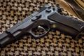Картинка пистолет, оружие, ткань, CZ-75BD