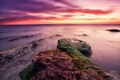 Картинка море, пейзаж, закат, камни, Sicily, ITALI, Granelli