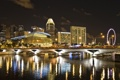 Картинка атракцыон., singapur, река, ночь, отель, город, сингапур