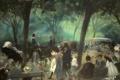 Картинка деревья, парк, люди, картина, Нью-Йорк, Central Park, жанровая