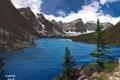 Картинка art, облака, небо, арт, горы, озеро