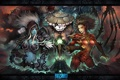 Картинка панда, starcraft, blizzard, wow, world of warcraft, night elf, sarah kerrigan
