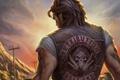 Картинка татуировки, Ride to Hell, Retribution, надпись, парень, спиной