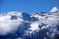 Картинка облака, пейзаж, склоны, Китай, Тибет, photo, заснеженные