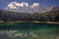 Картинка лес, горы, озеро, отражение