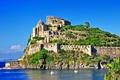 Картинка море, зелень, вода, пейзаж, остров, Италия, Italy
