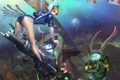 Картинка карты, кролик, Алиса, подводный мир, концепт-арт