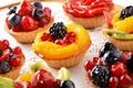 Картинка ягоды, киви, клубника, cake, десерт, смородина, выпечка