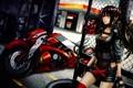 Картинка взгляд, девушка, мотоцикл, art, гетерохромия, date a live, tokisaki kurumi