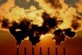 Картинка Завод, трубы, небо, дым, солнце