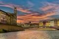 Картинка город, River Arno, Pisa Italy