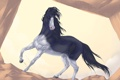 Картинка взгляд, животное, лошадь, арт, грива