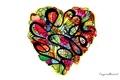Картинка Сердце, сердечко, из цветов