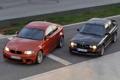 Картинка Вечер, BMW, Оранжевый, Чёрный, Фары, 1 Series, Передок