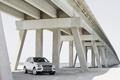 Картинка мост, берег, mercedes, под мостом, m-class