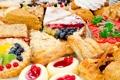 Картинка ягоды, пирожные, торты, тарталетка, пироги, изобилие, кондитерия