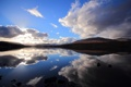 Картинка облака, озеро, отражение, холмы