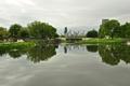 Картинка city, озеро, парк, небоскребы, USA, америка, чикаго