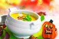 Картинка суп, Halloween, тыква, Хэллоуин, семечки, фигурка, супница