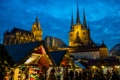 Картинка небо, вечер, Германия, площадь, собор, ярмарка, Эрфурт