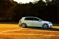 Картинка white, vossen, side, volkswagen, golf, wheels