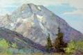 Картинка облака, деревья, горы, природа, склон, арт