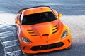 Картинка авто, оранжевый, Dodge, Viper, вайпер, передок, SRT
