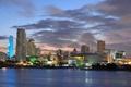 Картинка city, дома, вечер, USA, Miami, Майями, высотки.