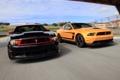 Картинка оранжевый, чёрный, скорость, Mustang, Ford, мустанг, Boss 302