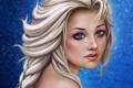 Картинка девушка, лицо, арт, коса, Elsa, FROZEN